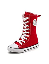 MODEOK Girls' t High-Top Zipper Canvas Shoes Casual Sneakers(Toddler/Little Kid/Big Kid)()