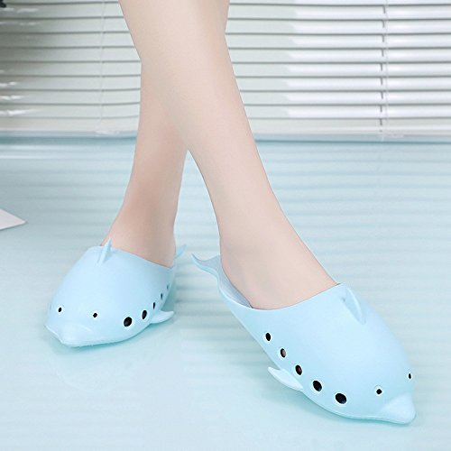 Slip Wear Parent Cute Bathroom Blue Bath Models Non Color 6 5 US Color Blue Child Dolphin Indoor Size Summer Candy tFSqpp