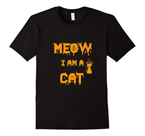 Lovers Halloween Costumes (Mens Meow I'm A Cat Funny Cat Lover Halloween Costume T-Shirt Tee Small Black)