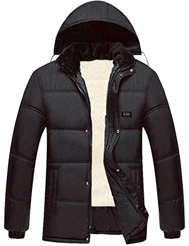 EKU Men's Big And Tall Thicken Fur-Lined Down Jacket Coat No.1 US XXL