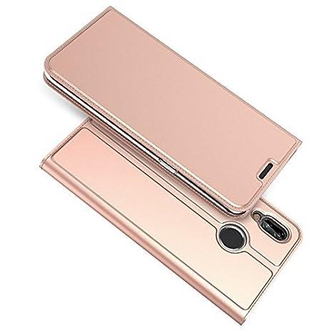 Coque Housse pour Huawei P20 Lite en Cuir Etui Flip Cover Case Portefeuille Etui Cellulaire Housse Ultra-Mince PU Protecteur le Corps du Étui Magnétique Flip Stand Avec Fente Pour Carte adorehouse