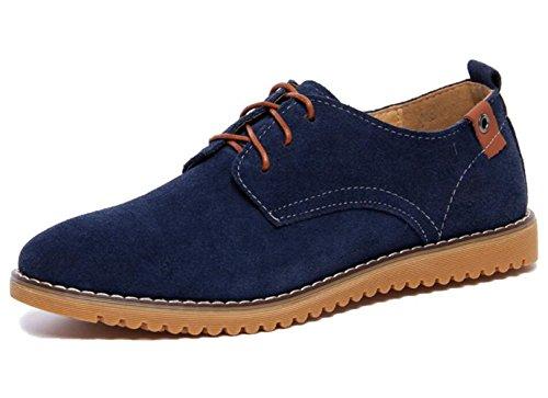 Dadawen Men's Blue(B) Leather Oxford Shoe - 7 D(M) ()