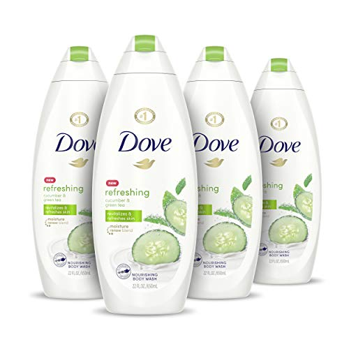 Dove go fresh Refreshing Body Wash Revitalizes and Refreshes Skin Cucumber and Green Tea Effectively Washes Away…