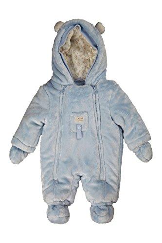 Kanz Unisex Baby Schneeanzug Overall m. Kapuze + abnehmbaren Fäustlingen, Gr. 56, Blau (skyway blue)