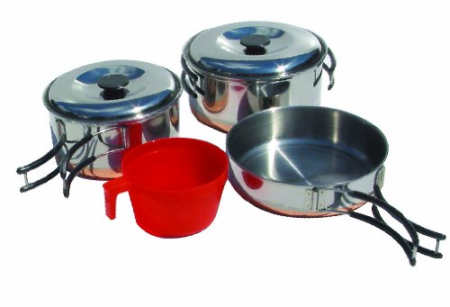 Chinook Ridgeline 6 Piece Stainless Steel Single Cookset by Chinook