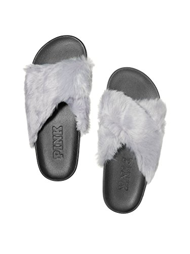 Pink Pink Victoria's Crisscross Ray Moon Faux Secret VS Fur Slides tdUqBt
