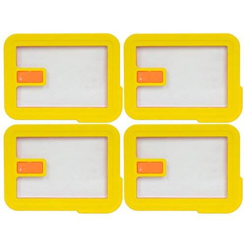 Pyrex 7210-NLC Rectangle Yellow 3 Cup Vented No Leak Lid for 7210 Dish (4-Pack)