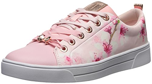 Ted Lace Up Sneakers (Ted Baker Women's Ahfira Sneaker, Blossom Print, 8 B(M) US)