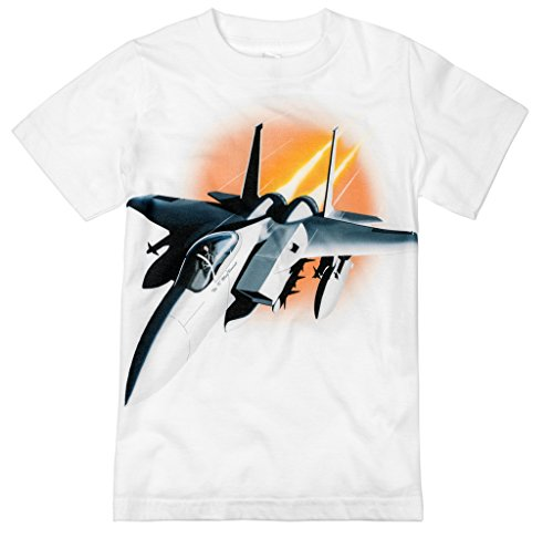 Shirts That Go Little Boys  Fighter Jet Airplane T-Shirt 4 White