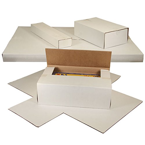 Multi Depth Book Fold Mailers - The Packaging Wholesalers 9 5/8 x 6 5/8 x 1 1/4 White Multi-Depth Corrugated Book Fold (BSM961)