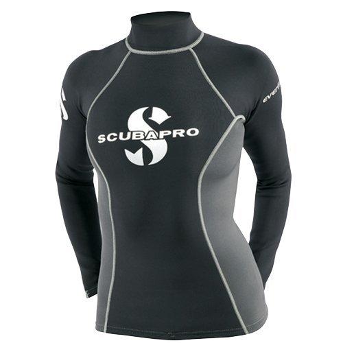 Scubapro Kvinna Everflex 1 Mm-skjorta Rush Guard Svart / Grå