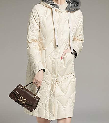 ZEIYUQI Women's Hooded Long Sleeve Casual Outdoor Coats Zipper Pockets Lightweight,White,S