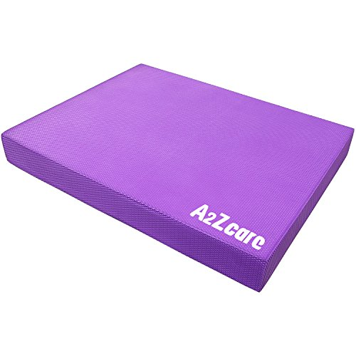 A2ZCARE Premium Quality Balance Pad - Super Soft Pad Provides A Non-Slip Textured Surface (Guideline Included) (Purple (Large))