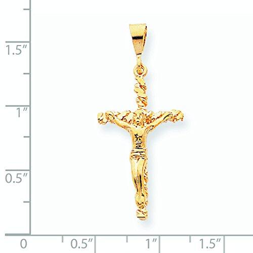 10 K or poli pendentif en forme de croix-de dimension jewelryWeb en or 9 carats -
