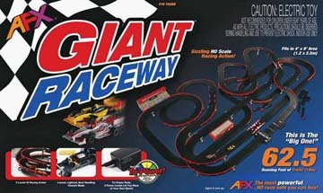 Giant Raceway Set Mega G Chassis/Tri-Power Pack (Slot Car Track Set)