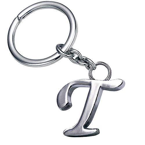 (Stylish Alphabet Key Rings Creative Design Keychain Women Purse Charms Handbags Accessories Pendants Gift LetterT)