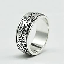 AmaranTeen - 925 sterling silver cool punk rings men wedding