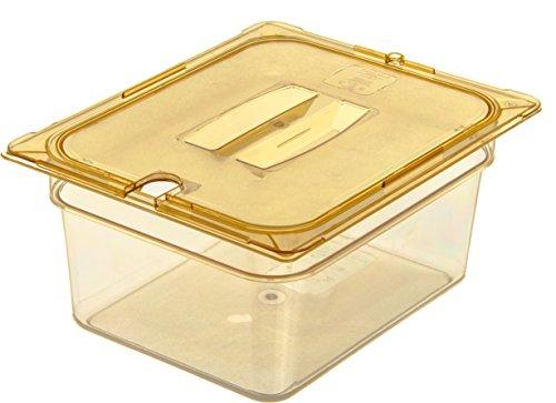 Carlisle 10422B13 High Heat One-Half Size Food Pan, 8.7-quart Capacity, 6'' x 10.38'' x 12.75'', Amber (Case of 6) by Carlisle (Image #6)