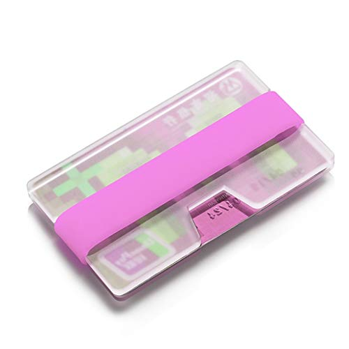 Dimensione 0 Piccoli Carte 4 9cm Credito Regalo Aziendali Purple Red Identità Sottili Porta 9 Coppia Di color Portafogli 5 Trasparenti Luminoso CvwxUHq6d