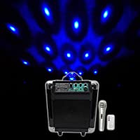 NYC Acoustics NB65A Pro 6.5 Rechargeable USB/Bluetooth Powered PA Party Speaker