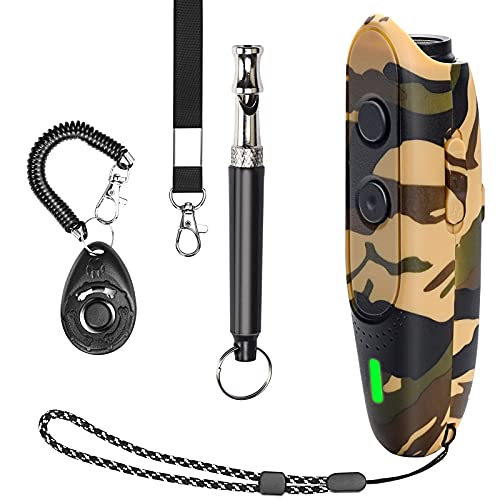 Dog Barking Deterrent Devices Rechargeable Ultrasonic Dog Bark Deterrent 3 Frequency Dog Whistles That Makes Dogs Stop…