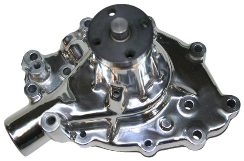 """PRW 1428910 Performance Quotient 5/8"""" Pilot Shaft Polished High Flow Aluminum Water Pump for Ford 289 1965-68, 302-351W 1968-69"""