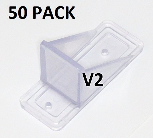 50 Pack MINI Roof Guard Snow Guard Prevent Sliding Ice Snow Stop Buildup Plastic ACRYLIC by JSP Manufacturing