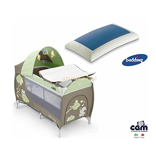 Kinderbett Cam Daily Plus Eule grau Kinder Baby + Bedding Blue Classic