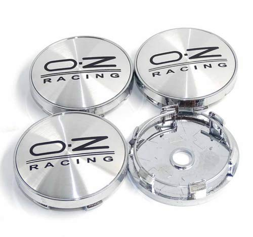 Infinit-Deal 4PCS 60mm Black Car Wheel Center Caps Caps RIM Hub Cover Emblem Badge For OZ O.Z RACING Sports Replacement Styling Auto Accessories ? (Silver)