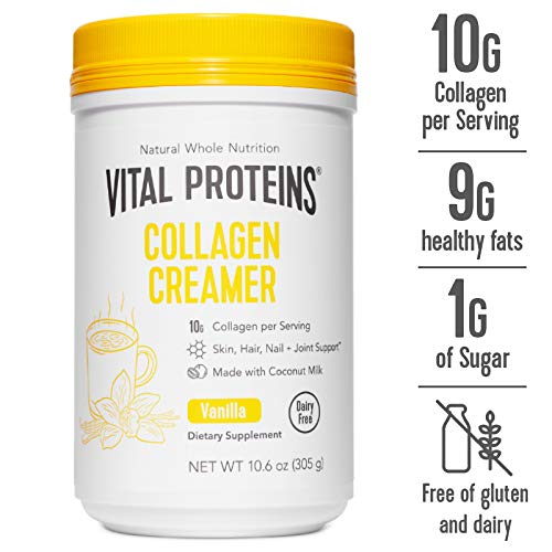 Vital Proteins Collagen Coffee Creamers - No Dairy, Low Sugar, Powdered (Vanilla)