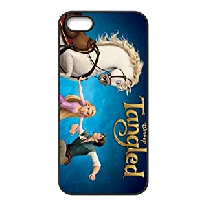 Disney Tangled Character Flynn Rider funda iPhone 5 5s caja funda del teléfono celular del teléfono celular negro cubierta de la caja funda EEECBCAAC14815