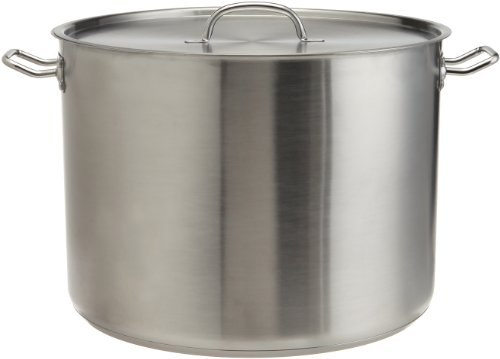 Prime Pacific Heavy Duty Stainless Steel Stock Pot with Lid, - Stainless 5 Gallon Pot Steel