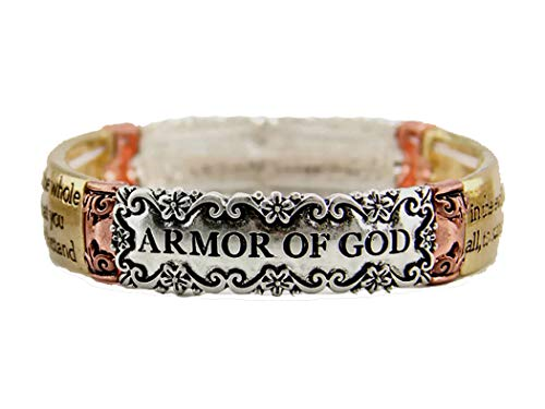 4030948 Ephesians 6:13 Armor of God Stretch Bracelet Stand Firm Against The Evil One Scripture Bible Verse ()