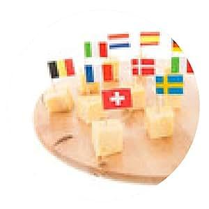 alfombrilla de ratón cubos de queso europeas - ronda - 20cm