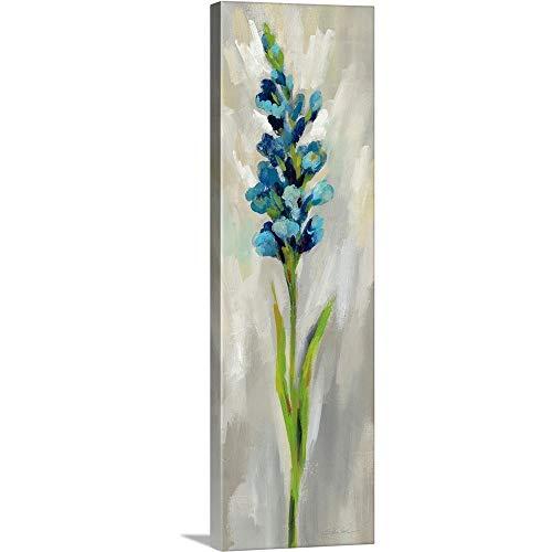 """Single Stem Flower I Canvas Wall Art Print, 12""""x36""""x1.25"""""""