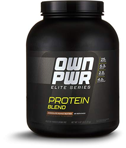 OWN PWR Elite Series Protein Powder, Chocolate Peanut Butter, 5 lb, Protein Blend (Whey Isolate, Milk Isolate, Micellar Casein)