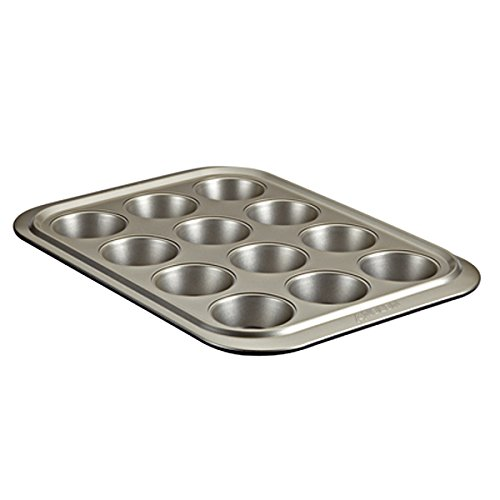 Anolon Muffin Pan, Onyx/Pewter