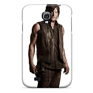 JasonPelletier Samsung Galaxy S4 Comfortable Phone Hard Covers Unique Design Attractive Daryl Walking Dead Series [TCR15602rDwf]