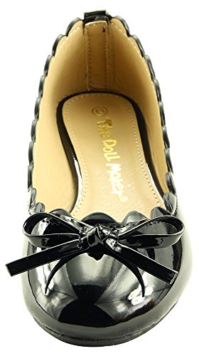 Ballet Flat The Glitter Glossy Maker Black Doll qwaHIt