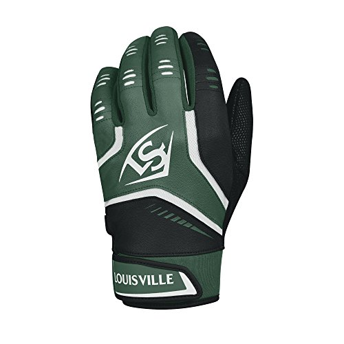 Louisville Slugger Omaha Adult Batting Gloves - Large, Dark Green