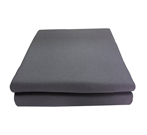 Shentao Flat Sheet- THICK 165 GSM, Vintage Style With Natural Wrinkle,Super Soft Microfiber Bed Sheet (Queen, Gray) (Flat Sheet Vintage)