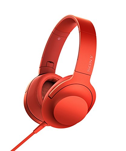 Sony Pink Noise Canceling Headphone (Sony h.ear on Premium Hi-Res Stereo Headphones (wired), Cinnabar Red)