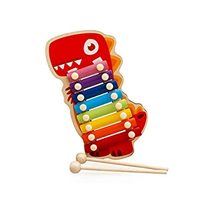 Livoty Baby Kids Musical Toys Wooden Xylophone 8-Tone Piano Early Education Toy (C): Sports & Outdoors