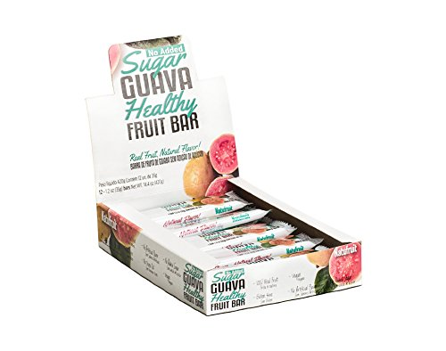 No Added Sugar Guava Healthy Fruit Bar Box of 12 - 100% Real Fruit | Gluten Free | No Artificial Flavors | No Trans Fat | Vegan | High in Vitamin C | Kosher by Natufruit