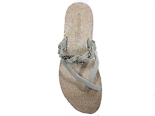 Zapatos Mujer EDDY DANIELE 37 Sandalias Gris Gamuza AW308/AW309