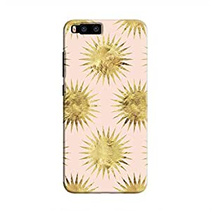 Cover It Up - Gold Pink Star Mi6 Hard Case