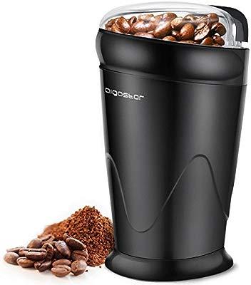 Aigostar Breath 30CFR - Molinillo compacto de café, especias, semillas o granos, capacidad 60 gr, cuchillas de acero inoxidable con láminas ...