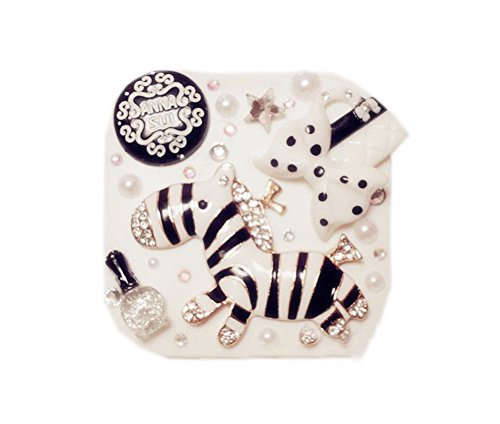 [Crystal Zebra Contact Lens Case Cosmetic Lens Holder] (Prescription Colored Contact Lenses)