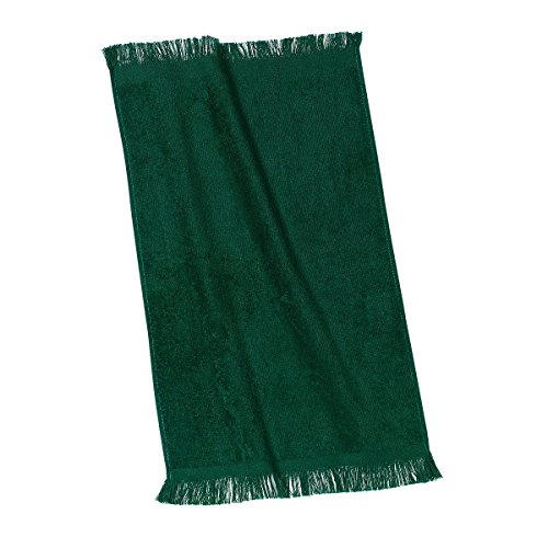 Towel Fingertip Fringed 11x18 - Georgiabags Terry Velour Fingertip Towel with Fringed Ends, 11