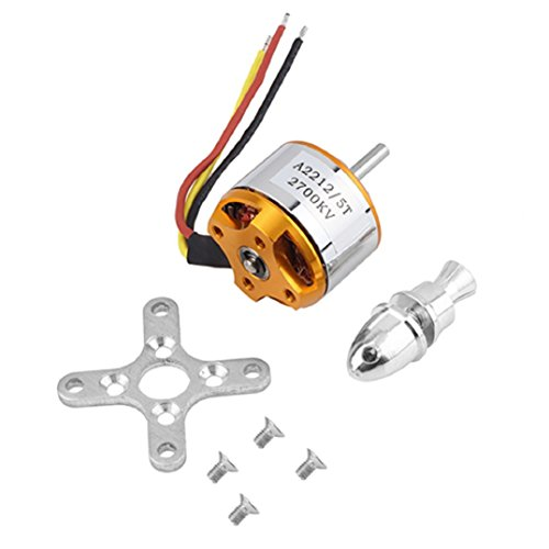 OLD TEUCER A2212/5T 2700KV Outrunner Brushless Motor for RC Airplane Aircraft Hobby (Electric Motors Aircraft)